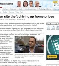 cbc news webpage -- construction theft