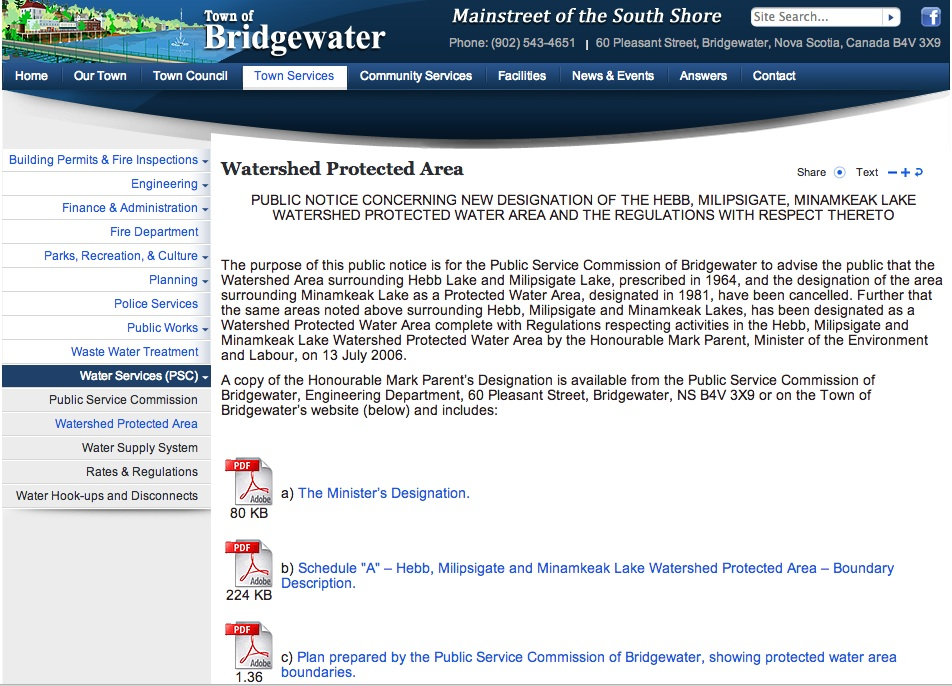 Bridgewater watershed