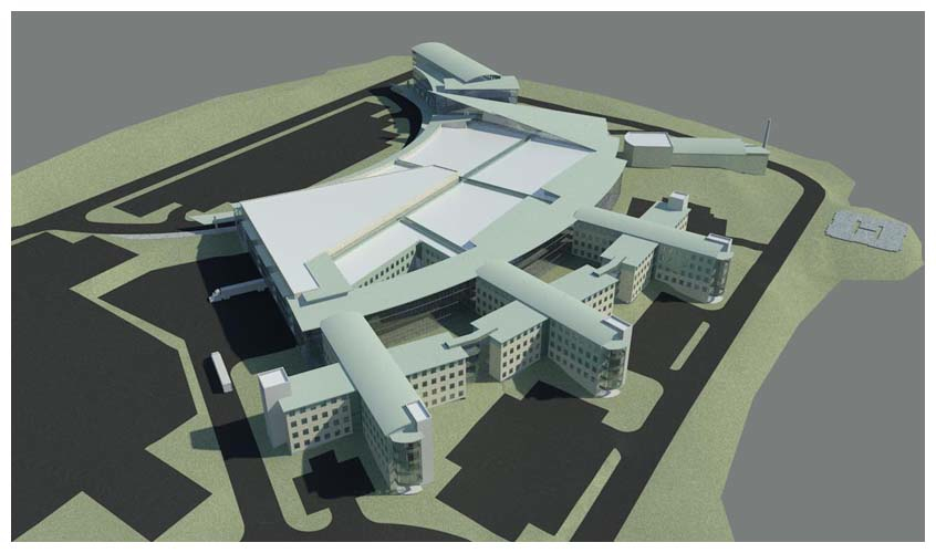 corner brook hospital rendering