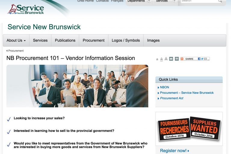 New Brunswick businesses invited to free sessions on government procurement