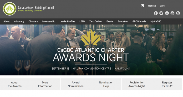 CaGBC Atlantic Chapter announces Leadership and Green Building Award winners